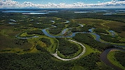Aerial view of King Salmon, Alaska