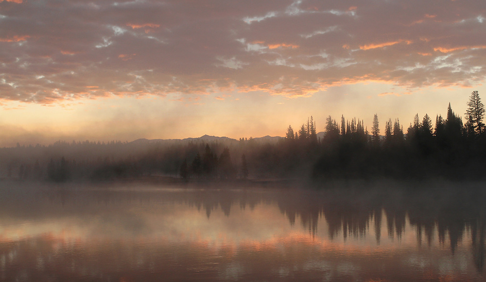 During late summer and early autumn, frigid morning temperatures cause the formation of fog along the Yellowstone River; reminding us all that winter is just around the corner.