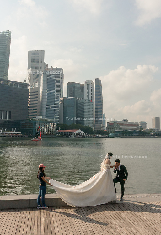 Singapore, wedding shooting at Marina Bay