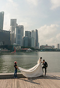 Singapore, wedding shooting at Marina Bay