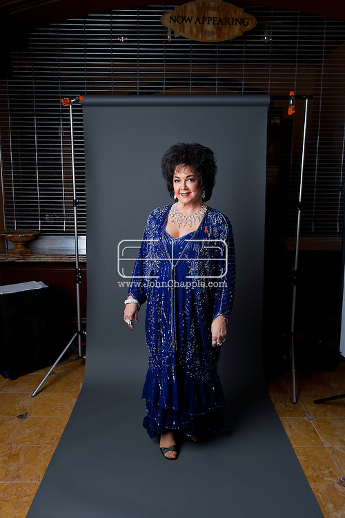 24th February 2011. Las Vegas, Nevada.  Celebrity Impersonators from around the globe were in Las Vegas for the 20th Annual Reel Awards Show. Pictured is Elizabeth Taylor, played by Louise Gallagher, 65, from San Diego.  Photo © John Chapple / www.johnchapple.com..
