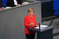 DEU, Deutschland, Germany, Berlin, 05.09.2017: Bundeskanzlerin Dr. Angela Merkel (CDU) bei einer Rede im Deutschen Bundestag.