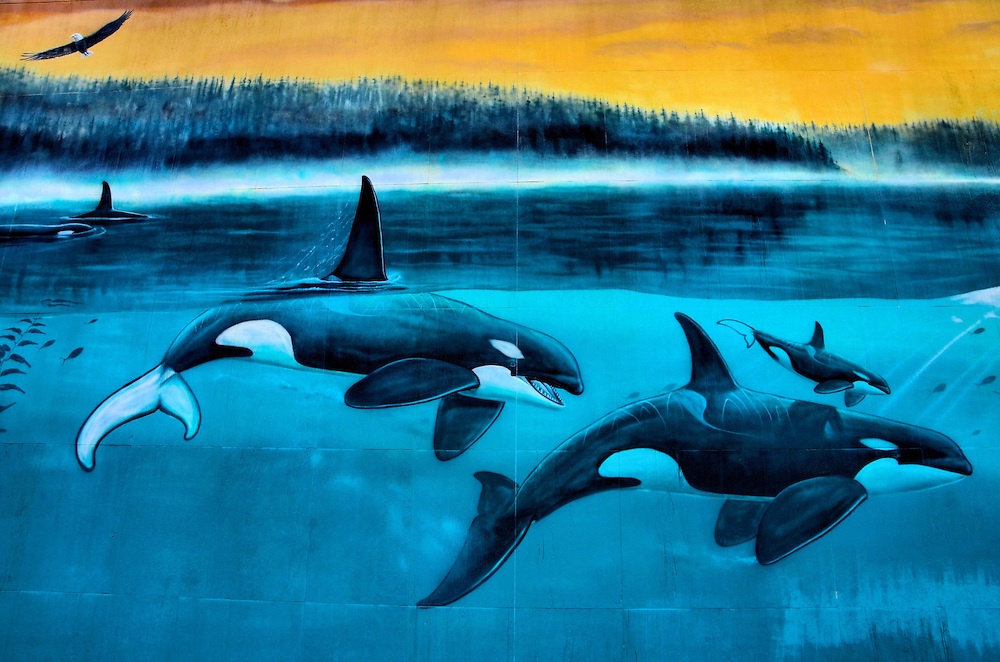 Orcas Passage Mural by Wyland in Indianapolis, Indiana<br />