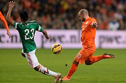 12-11-2014 NED: Oefenwedstrijd Nederland - Mexico, Amsterdam<br /> Nederland verliest met 3-2 van Mexico / Wesley Sneijder scoort de 1-1