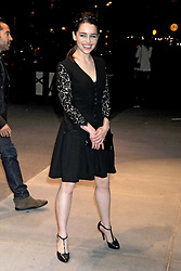 59603755 .Emilia Clarke at the opening party of Dolce & Gabbana Flagship Store on the 5th Avenue New York, USA, May 04, 2013. Photo by: i-Images.UK ONLY