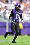 FORT WORTH, TX - SEPTEMBER 13:  Ranthony Texada #11 of the TCU Horned Frogs looks on against the Minnesota Golden Gophers on September 13, 2014 at Amon G. Carter Stadium in Fort Worth, Texas.  (Photo by Cooper Neill/Getty Images) *** Local Caption *** Ranthony Texada