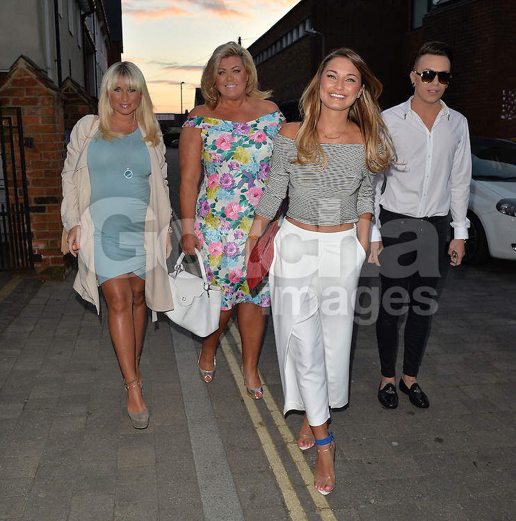 TOWIE stars Gemma Collins, Billie Faiers, Sam Faiers and Bobby Cole Norris at The Gardeners Arms Bar &amp; Restaurant in Brentwood, Essex, UK. 18/04/2014<br />