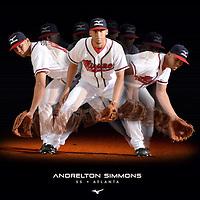 Mizuno poster of Andrelton Simmon