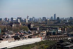 UK ENGLAND LONDON 21APR15 - View of the east London skline from 201 Bishopsgate, Liverpool Street, City of London.<br /> <br /> <br /> <br /> jre/Photo by Jiri Rezac<br /> <br /> <br /> <br /> &copy; Jiri Rezac 2015