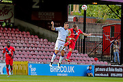 James Berrett during the Friendly match between York City and Leeds United at Bootham Crescent, York, England on 15 July 2015. Photo by Simon Davies.