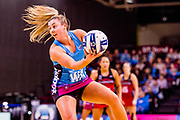 Steel's Gina Crampton. 2018 ANZ Premiership Elimination Final, Steel Vs Tactix at ILT Stadium, Invercargill, New Zealand.  8 August 2018.  © Copyright photo: Clare Toia-Bailey / www.photosport.nz2018 ANZ Premiership Elimination Final, Steel Vs Tactix at ILT Stadium, Invercargill, New Zealand.  8 August 2018.  © Copyright photo: Clare Toia-Bailey / www.photosport.nz