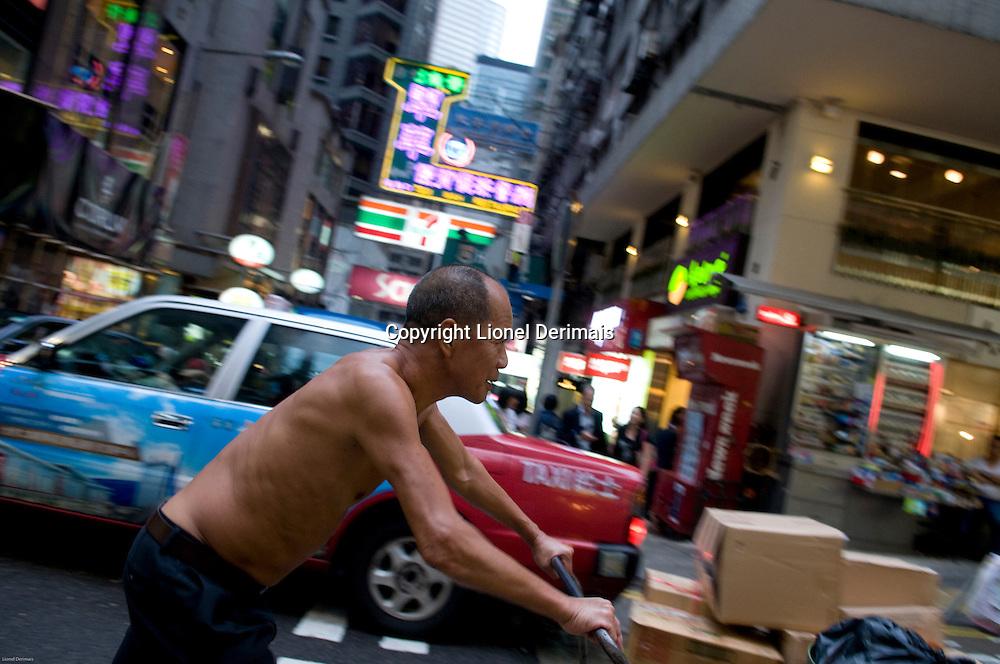 Wellington street, Central, Hong Kong.