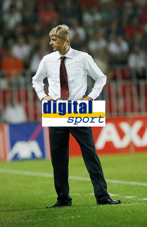 Photo: AF Wrofoto/Sportsbeat Images.<br />Sparta Prague v Arsenal. UEFA Champions League Qualifying. 15/08/2007.<br />Arsene Wenger of Arsenal