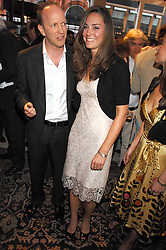 SIMON SEBAG-MONTEFIORE and KATE MIDDLETON at a party to celebrate the publication of 'Young Stalin' by Simon Sebag-Montefiore at Asprey, New Bond Street, London on 14th May 2007.<br />
