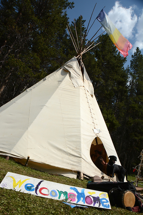 Welcome Home. Rainbow Gatherings started back in 1972, acts of self-expression, inclusiveness, and the right to peacefully assemble. Rainbow Gathering 2013 was held in Montana, outside of Jackson.