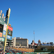 View of the scoreboard at Comerica Park, Detroit, MI. Home of the Detroit Tigers.