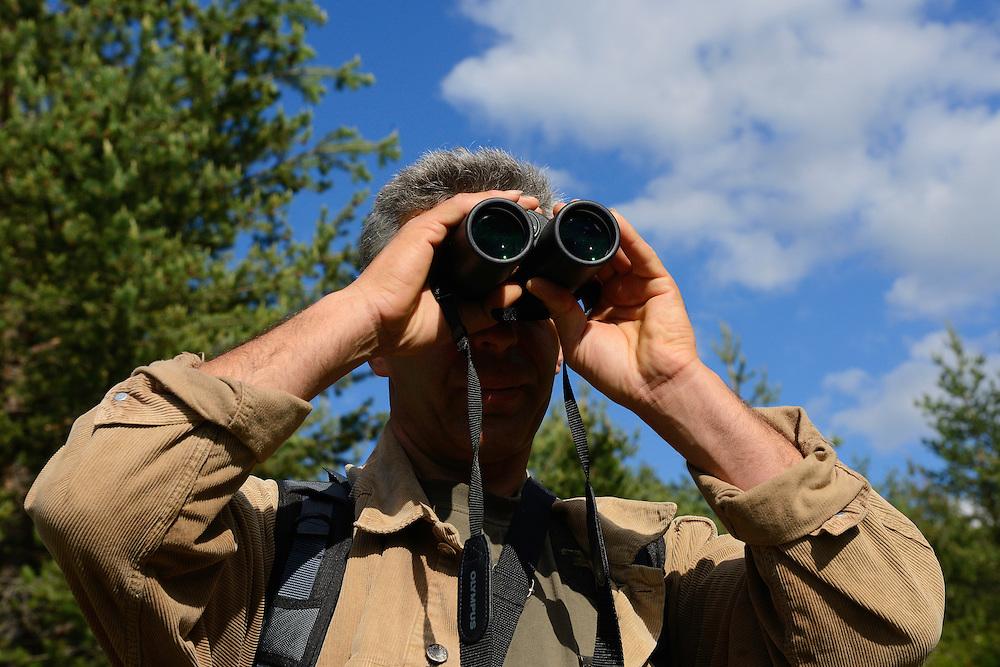 Vlado Peikov, hunting area manager, Deven area, Western Rhodope mountains, Bulgaria