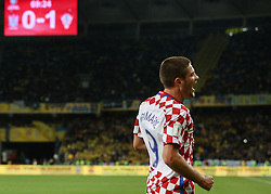 October 9, 2017 - Kiev, Ukraine - Andrej Kramaric  of Croatia (9) celebrates as he scores their first goal of during the FIFA 2018 World Cup Group I Qualifier between Ukraine and Croatia at Kiev Olympic Stadium on October 9, 2017 in Kiev, Ukraine. Ukraine fail to reach the play-offs as they lose 2-0. (Credit Image: © Sergii Kharchenko/NurPhoto via ZUMA Press)