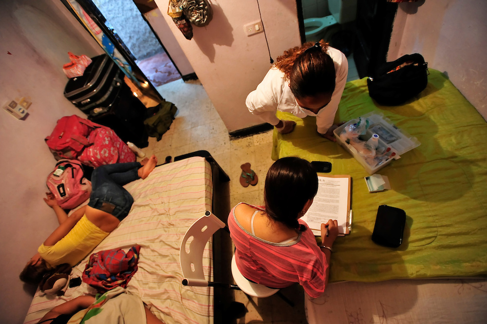 STD testing in a brothel in Cartagena, Colombia. A sex scandal erupted recently when secret service agents were found bringing prostitutes to their hotel rooms while in Cartagena preparing for President Barack Obama's arrival to the Summit of the Americas.