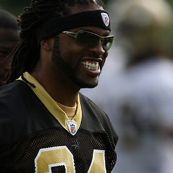 2008 May 21: New Orleans Saints cornerback Mike McKenzie #34 smiles during team organized activities at the Saints training facility in Metairie, LA. .