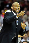 Feb. 2, 2011; Cleveland, OH, USA; Cleveland Cavaliers head coach Byron Scott yells to his players during the fourth quarter against the Indiana Pacers at Quicken Loans Arena. The Pacers beat the Cavaliers 117-112. Mandatory Credit: Jason Miller-US PRESSWIRE