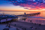 Locals Enjoying a Winter Sunset on the Beach in San Clemente