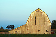 An old barn on a farm in rural Illinois.