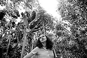Marina Silva (Rio Branco-Brazil 1958). In Chico Mendes park in Rio Branco in july 1997, then member of the brazilian senate for the state of Acre.She was member of the Partido dos Trabalhadores (PT), and main collaborator of Chico Mendes, the landless leader killed december 22nd, 1988, in Xapuri. In 1994, she was elected to the Senate at the age of 36.In 2003, she was Lula's minister of environment.In 2009, she left the PT for the Brazil Green party, and decided to run for presidency in 2010.