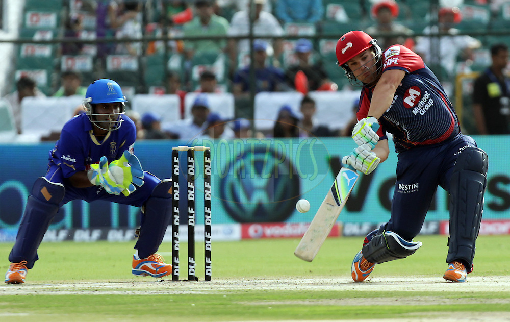 Aaron Finch of Delhi Daredevils plays a shot during match 7 of the the Indian Premier League ( IPL ) Season 4 between the Rajasthan Royals and the Delhi Daredevils held at the Sawai Mansingh Stadium, Jaipur, Rajasthan, India on the 12th April 2011..Photo by BCCI/SPORTZPICS