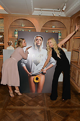 Left to right, MIKA SIMMONS and JENNY HALPERN-PRINCE at the 3rd annual Gynaecological Cancer Fund Ladies Lunch at Fortnum & Mason, 181 Piccadilly, London on 29th September 2016.