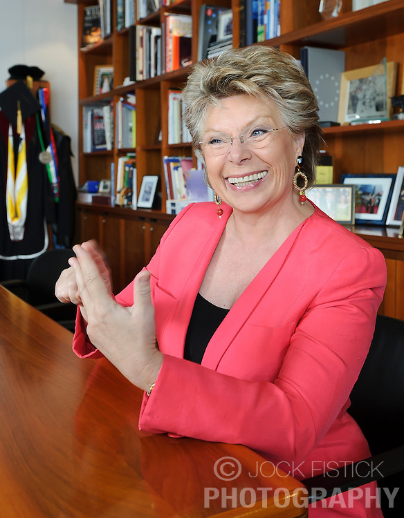 Viviane Reding, Vice President of the European Commission and Commissioner for Justice, Fundamental Rights and Citizenship, in her office at the EU Commission headquarters in Brussels, Tuesday, May 31, 2011. (Photo © Jock Fistick)