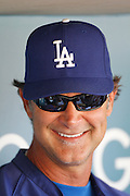 LOS ANGELES, CA - AUGUST 07:  Don Mattingly #12 manager of the Los Angeles Dodgers smiles as he talks to the media before the game against the Colorado Rockies on Tuesday, August 7, 2012 at Dodger Stadium in Los Angeles, California. The Rockies won the game 3-1. (Photo by Paul Spinelli/MLB Photos via Getty Images) *** Local Caption *** Don Mattingly
