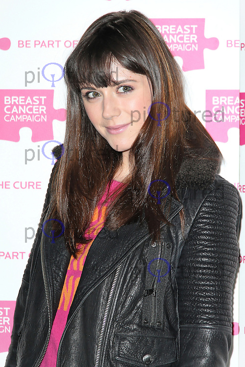 LONDON - OCTOBER 01: Lilah Parsons attended the Breast Cancer Campaign launch party at Vertigo, Tower 42, London, UK. October 01, 2012. (Photo by Richard Goldschmidt)