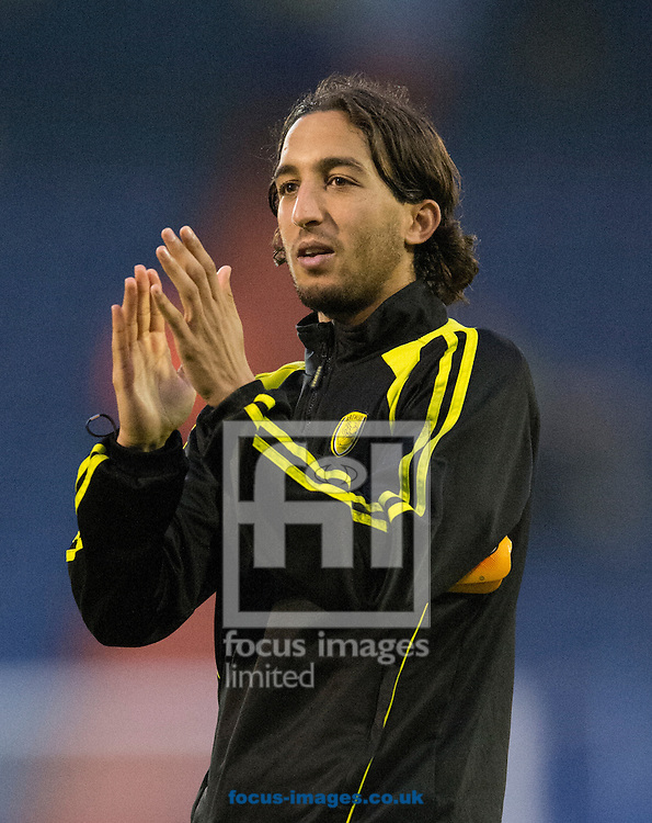 Match winner Abdenasser El Khayati of Burton Albion applauds his team's travelling support following the Sky Bet League 1 match at Boundary Park, Oldham<br /> Picture by Russell Hart/Focus Images Ltd 07791 688 420<br /> 31/10/2015