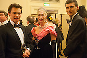 DIMITRI ZIADIE-CAMPBELL; LADY GEORGIA CAMPBELL; MICHAEL ZIEDIE-CAMPBELL, THE ST PETERSBURG BALL in aid of the Children's Burns Trust. Landmark Hotel. London. 2 February 2013