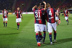 """Foto LaPresse/Filippo Rubin<br /> 25/05/2019 Bologna (Italia)<br /> Sport Calcio<br /> Bologna - Napoli - Campionato di calcio Serie A 2018/2019 - Stadio """"Renato Dall'Ara""""<br /> Nella foto: ESULTANZA GOAL BOLOGNA BLERIM DZEMAILI (BOLOGNA F.C.)<br /> <br /> Photo LaPresse/Filippo Rubin<br /> May 25, 2019 Bologna (Italy)<br /> Sport Soccer<br /> Bologna vs Napoli - Italian Football Championship League A 2018/2019 - """"Dall'Ara"""" Stadium <br /> In the pic: CELEBRATION GOAL BOLOGNA BLERIM DZEMAILI (BOLOGNA F.C.)"""