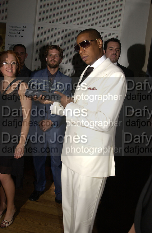 Jay Z. GQ Men Of The Year Awards at the Royal Opera House, London. September 6, 2005 in London, England, ONE TIME USE ONLY - DO NOT ARCHIVE  © Copyright Photograph by Dafydd Jones 66 Stockwell Park Rd. London SW9 0DA Tel 020 7733 0108 www.dafjones.com