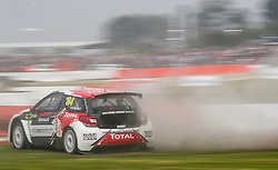 Herve Lemonnier in qualifying during day two of the 2018 FIA World Rallycross Championship at Silverstone, Towcester.