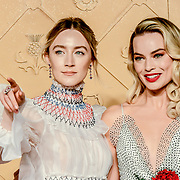 Saoirse Ronan and Margot Robbie Arrivers at Mary, Queen of Scots - European premiere ay Cineworld,  Leicester Square on 10 December 2018, London, UK.
