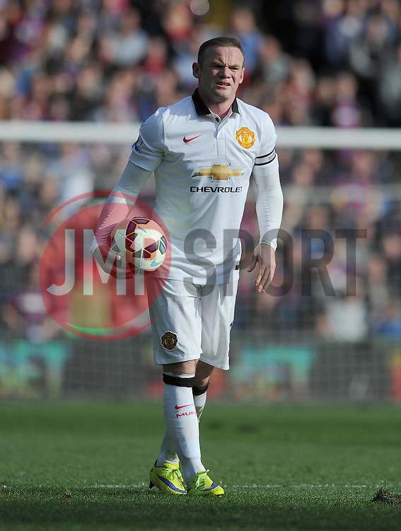 Manchester United's Wayne Rooney - Photo mandatory by-line: Alex James/JMP - Mobile: 07966 386802 - 09/05/2015 - SPORT - Football - London - Selhurst Park - Crystal Palace v Manchester United - Barclays Premier League