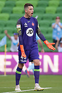 MELBOURNE, VIC - JANUARY 22: Western Sydney Wanderers goalkeeper Nick Suman (40) reacts after City score a goal at the Hyundai A-League Round 15 soccer match between Melbourne City FC and Western Sydney Wanderers at AAMI Park in VIC, Australia 22 January 2019. Image by (Speed Media/Icon Sportswire)