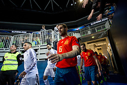 Solano of Spain during futsal match between Spain and France at Day 2 of UEFA Futsal EURO 2018, on January 31, 2018 in Arena Stozice, Ljubljana, Slovenia. Photo by Urban Urbanc / Sportida