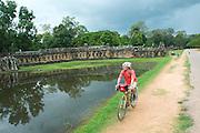Touring Cyclist  - Angkor Wat - Cambodia