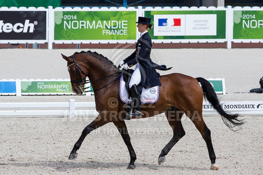Veronique Henschen, (LUX), Fontalero - Grand Prix Team Competition Dressage - Alltech FEI World Equestrian Games&trade; 2014 - Normandy, France.<br /> &copy; Hippo Foto Team - Leanjo de Koster<br /> 25/06/14