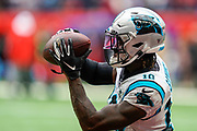 Carolina Panthers Wide Receiver Curtis Samuel (10) warms up during the International Series match between Tampa Bay Buccaneers and Carolina Panthers at Tottenham Hotspur Stadium, London, United Kingdom on 13 October 2019.