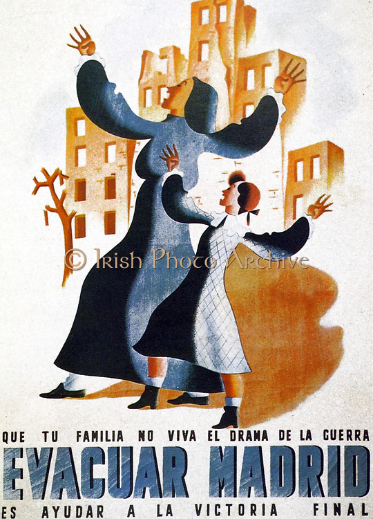 Poster supporting the Fascists under Franco during the Spanish Civil  War 1938