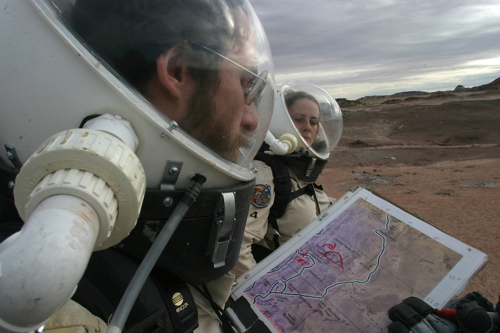.Mars Desert Research Station.In the middle of the desert of Utah a group of sciences from all around the world is gathering for couples of weeks every few month to search watt human being can do on mars planet...Every crow of volunteers includes some biologist geologist and other nether scientist researches...They chose the desert of Utah because it simulated the acclaim on the planet Mars, for getting the filling of being on Mars and to challenge the research and to make it close as they can to the conditions on the planet they wear spies suit and live isolated in the laboratory for too weeks ich teem..The man person that ran the project is Robert Zabrin that believe that this project can lied to find ways to search for life on Mars and maybe to fined a way that human being will be able to live on the planet...This project is privet projects that cooperate with several universities around the world..