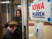 19 JANUARY 2020 - DES MOINES, IOWA: People walk into an Elizabeth Warren campaign event. With just two weeks to go before the Iowa Caucuses, Sen. Warren is campaigning in the Des Moines area this weekend to support her effort to be the Democratic nominee for the US presidential race in 2020. Iowa traditionally hosts the first presidential selection event of the campaign season. The Iowa caucuses are Feb. 3, 2020.           PHOTO BY JACK KURTZ