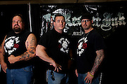 """Los Angeles, California: l-r: Big Ant, Joe Panz and Johnny O. of Rescue Ink at """"Reality Rocks: Los Angeles"""" first reality show convention, 4/10/11 (Photo: Ann Summa)."""
