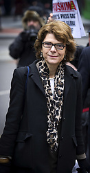 Vicky Pryce, the ex- wife of former energy minister Chris Huhne arrives at the Southwark Crown court for her retrial accused of perverting the course of justice, Monday Feb.25, 2013. Photo by Max Nash / i-Images.